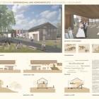 建築設計コンペ一等 ブドウ畑の村のプロジェクト
